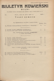 Biuletyn Kowieński Wilbi. 1935, nr 1257 (30 marca)