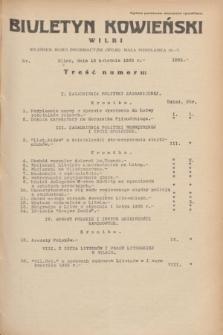 Biuletyn Kowieński Wilbi. 1935, nr 1265 (13 kwietnia)