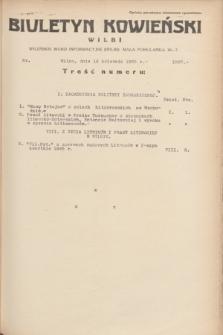 Biuletyn Kowieński Wilbi. 1935, nr 1267 (16 kwietnia)