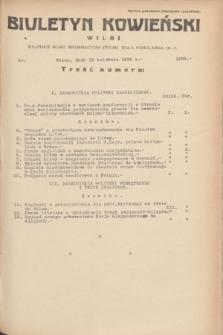 Biuletyn Kowieński Wilbi. 1935, nr 1269 (18 kwietnia)