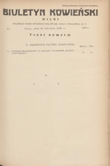 Biuletyn Kowieński Wilbi. 1935, nr 1270 (20 kwietnia)