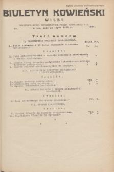 Biuletyn Kowieński Wilbi. 1935, nr 1322 (15 lipca)