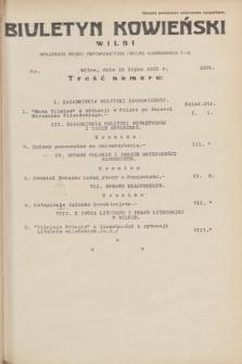 Biuletyn Kowieński Wilbi. 1935, nr 1325 (19 lipca)