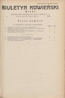 Biuletyn Kowieński Wilbi. 1935, nr 1327 (22 lipca)