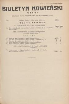 Biuletyn Kowieński Wilbi. 1935, nr 1334 (3 sierpnia)