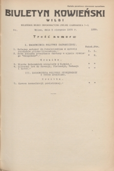 Biuletyn Kowieński Wilbi. 1935, nr 1335 (5 sierpnia)