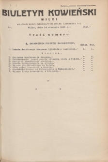 Biuletyn Kowieński Wilbi. 1935, nr 1340 (14 sierpnia)
