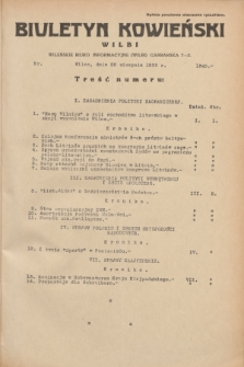 Biuletyn Kowieński Wilbi. 1935, nr 1345 (22 sierpnia)