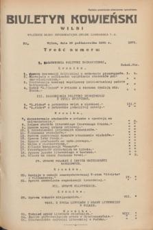 Biuletyn Kowieński Wilbi. 1935, nr 1375 (30 października) + wkładka