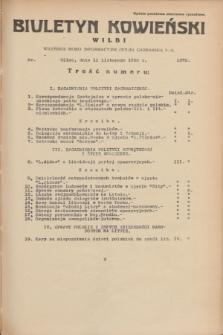 Biuletyn Kowieński Wilbi. 1935, nr 1379 (11 listopada)