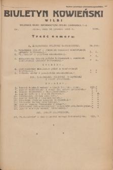 Biuletyn Kowieński Wilbi. 1935, nr 1394 (16 grudnia)