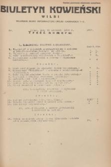 Biuletyn Kowieński Wilbi. 1936, nr 1407 (20 stycznia)