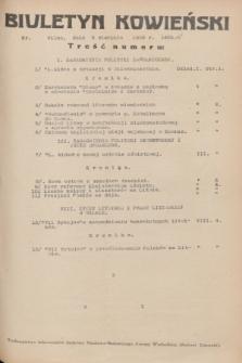 Biuletyn Kowieński Wilbi. 1936, nr 1485 (3 sierpnia)