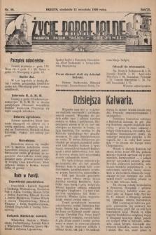 Życie Parafjalne : parafja Przen. Trójcy wBędzinie. 1936, nr36