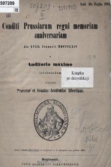 Insunt Lobeckii dissertationes de metaphora et de metonymia nunc primum editae
