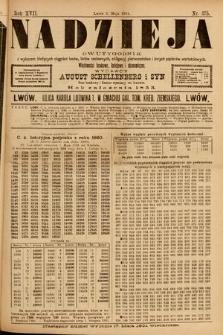 Nadzieja : dwutygodnik zwykazem bieżących ciągnień losów, listów zastawnych, obligacyj indemnizacyjnych innych papierów wartościowych : wiadomości bankowe, kolejowe, ekonomiczne. 1901, nr375