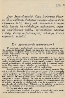 Pod Znakiem Marji : miesięcznik Związku Sodalicyj Marjan. uczniów szkół średnich w Polsce. R. 12, 1931/1932, nr5