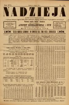 Nadzieja : dwutygodnik zwykazem bieżących ciągnień losów, listów zastawnych, obligacyj indemnizacyjnych innych papierów wartościowych : wiadomości bankowe, kolejowe, ekonomiczne. 1901, nr379