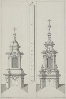 [Projekty dwóch hełmów wież kościelnych w stylu rokokowym]