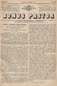 Bonus Pastor. R. 1, 1877, nr3