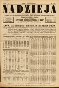 Nadzieja : dwutygodnik zwykazem bieżących ciągnień losów, listów zastawnych, obligacyj indemnizacyjnych innych papierów wartościowych : wiadomości bankowe, kolejowe, ekonomiczne. 1901, nr385
