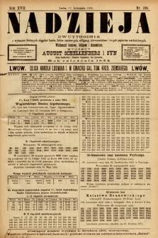 Nadzieja : dwutygodnik zwykazem bieżących ciągnień losów, listów zastawnych, obligacyj indemnizacyjnych innych papierów wartościowych : wiadomości bankowe, kolejowe, ekonomiczne. 1901, nr388