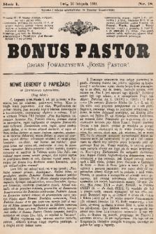 "Bonus Pastor / organ Towarzystwa ""Bonus Pastor"". R. 1, 1885, nr18"