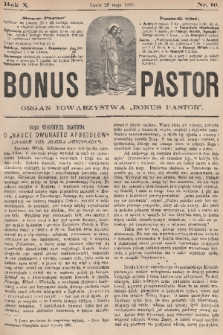 "Bonus Pastor / organ Towarzystwa ""Bonus Pastor"". R. 10, 1888, nr10"