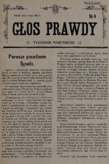 Głos Prawdy : tygodnik maryawicki. 1935, nr4