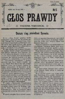 Głos Prawdy : tygodnik maryawicki. 1935, nr5