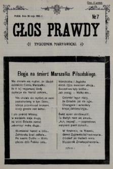 Głos Prawdy : tygodnik maryawicki. 1935, nr7