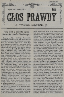 Głos Prawdy : tygodnik maryawicki. 1935, nr8