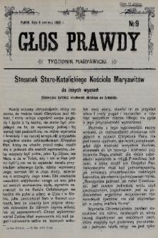 Głos Prawdy : tygodnik maryawicki. 1935, nr9