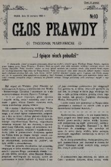 Głos Prawdy : tygodnik maryawicki. 1935, nr10