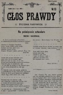 Głos Prawdy : tygodnik maryawicki. 1935, nr13