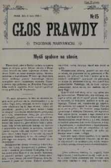 Głos Prawdy : tygodnik maryawicki. 1935, nr15