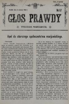 Głos Prawdy : tygodnik maryawicki. 1935, nr17