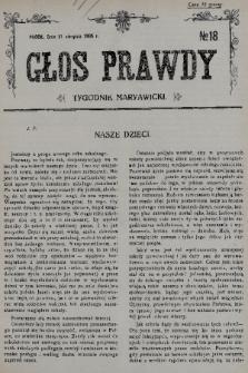 Głos Prawdy : tygodnik maryawicki. 1935, nr18