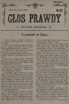 Głos Prawdy : tygodnik maryawicki. 1935, nr20