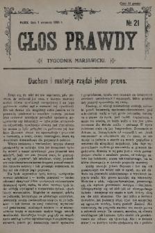 Głos Prawdy : tygodnik maryawicki. 1935, nr21