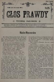 Głos Prawdy : tygodnik maryawicki. 1935, nr25