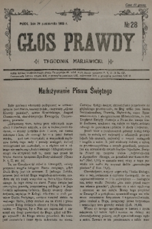 Głos Prawdy : tygodnik maryawicki. 1935, nr28