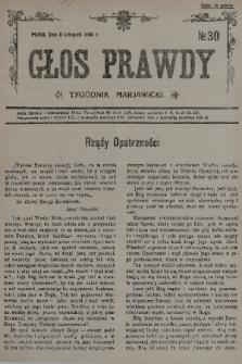 Głos Prawdy : tygodnik maryawicki. 1935, nr30