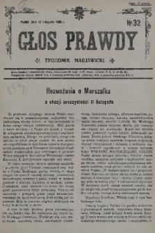 Głos Prawdy : tygodnik maryawicki. 1935, nr32