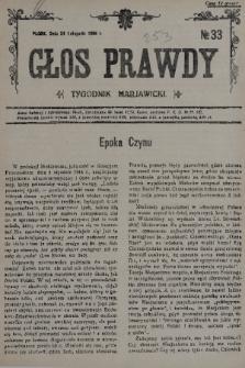 Głos Prawdy : tygodnik maryawicki. 1935, nr33