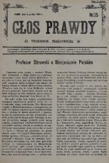 Głos Prawdy : tygodnik maryawicki. 1935, nr35
