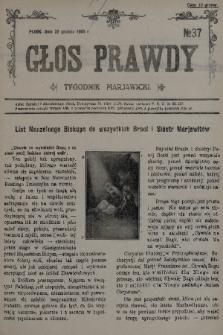 Głos Prawdy : tygodnik maryawicki. 1935, nr37