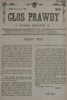 Głos Prawdy : tygodnik maryawicki. 1935, nr38