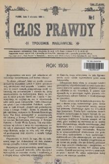 Głos Prawdy : tygodnik maryawicki. 1936, nr1