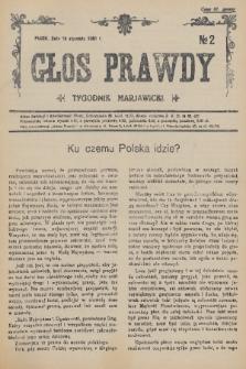 Głos Prawdy : tygodnik maryawicki. 1936, nr2